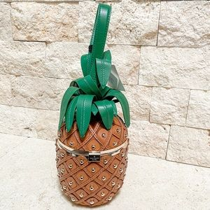 NWT Kate Spade By the Pool 3D Pineapple Bag